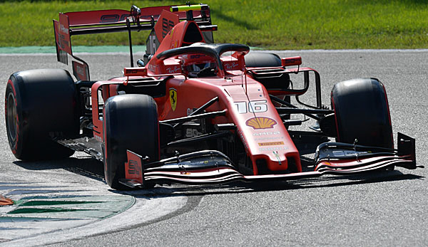 Charles Leclerc steht auf Pole Position in Italien.