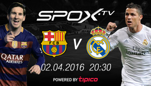 Der Clasico am 2. April live bei SPOX!