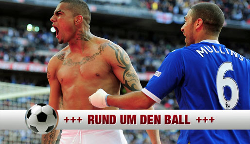Kevin-Prince Boateng (l.) stand mit dem FC Portsmouth im F.A.-Cup-Finale