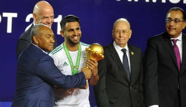 Riyad Mahrez a remporté la Coupe d'Afrique avec l'Algérie en 2019.