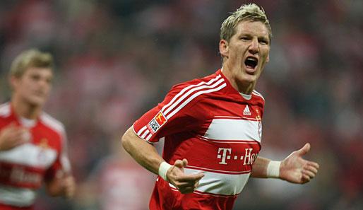 Bastian schweinsteiger erzielte in der laufenden bundesliga saison