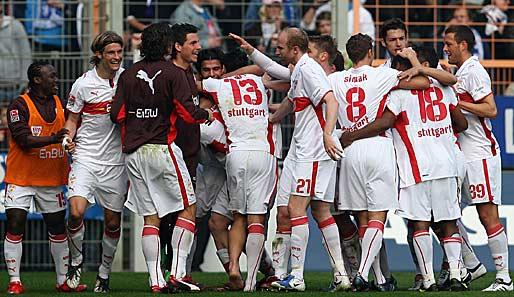 Der vfb stuttgart hat die letzten vier bundesligaspiele gewonnen