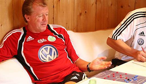 Wolfsburg Coach Mcclaren Im Pressegespräch