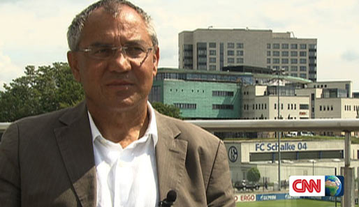 "Schalke-Trainer Felix Magath im Interview für das ""CNN""-Format ""The Contenders"""