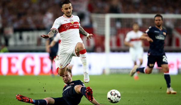 Anastasios Donis bereitete das 1:0 der Stuttgarter nach einem starken Solo in höchstem Tempo vor.