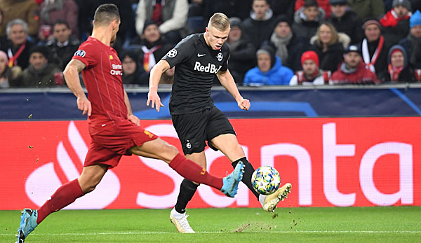 Erling bride Haaland retired with Red Bull Salzburg in the Champions League group stage.