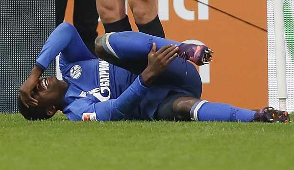 Moment de la fin de sa carrière: Breel Embolo a contracté une fracture compliquée de la cheville et une fracture du péroné en 2016 contre Augsbourg.