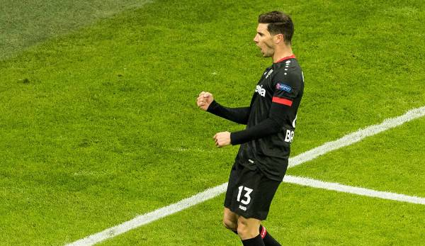 Lucas Alario du Bayer Leverkusen a déjà marqué sept buts en huit matchs cette saison.