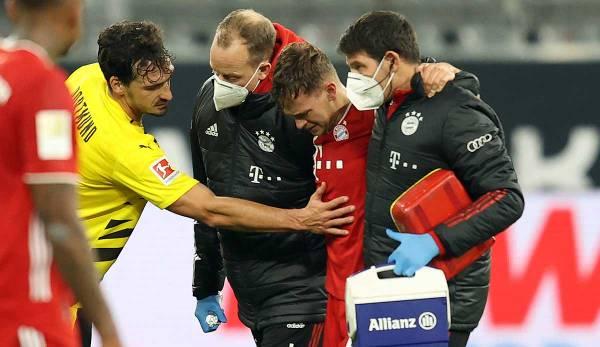 Le milieu de terrain du Bayern, Joshua Kimmich, a dû quitter le terrain blessé en première période.