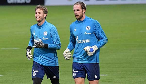 Tous deux ont duré longtemps et se battent apparemment toujours pour la place régulière à Schalker Tor: Ralf Fährmann et Frederik Rönnow.