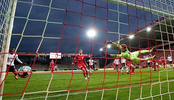 Traumhafter Kopfball zum 1:2: Andre Silva schnürte für Eintracht Frankfurt gegen Union Berlin einen Doppelpack.