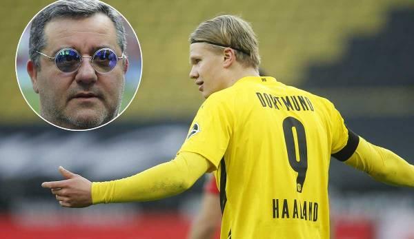 Erling Haaland Berater Mino Raiola dementierte die Barca-Gerüchte.