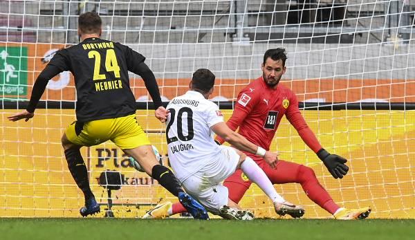 Der FC Augsburg gewann in der Hinrunde 2:0 gegen den BVB.