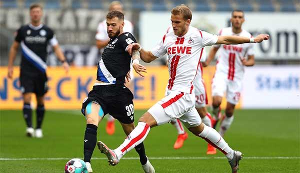 Das Hinspiel gewann Arminia gegen Köln mit 1:0.