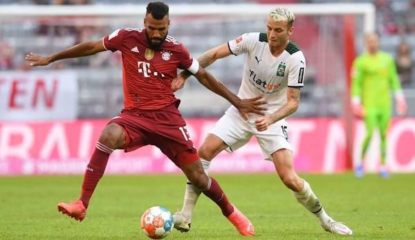 Eric Maxim Choupo-Moting (l.) war auch gegen Gladbach einer der wenigen erfahrenen Bayern-Spieler auf dem Platz.