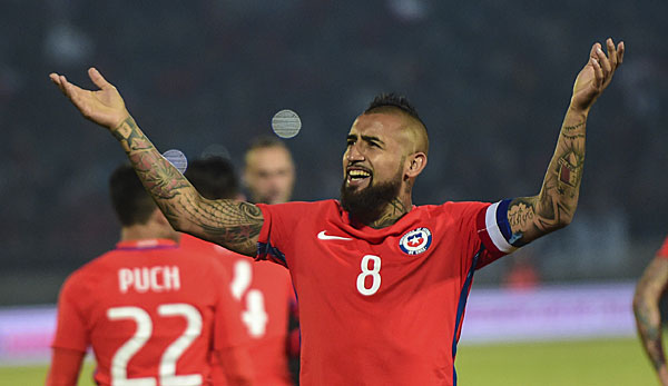 Arturo Vidal nimmt mit Chile am Confed-Cup in Russland teil