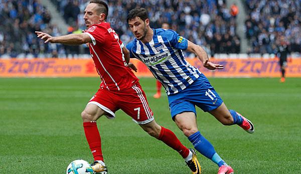FC Bayern: Ribery verletzt sich im Spiel bei Hertha BSC