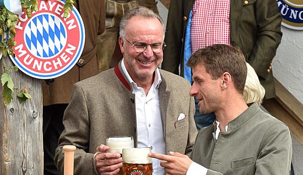 FC Bayern: Karl-Heinz Rummenigge rechnet nicht mit Wechselwunsch von Thomas Müller im Winter