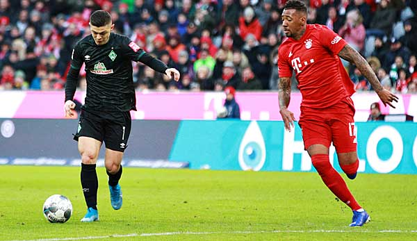 Deadly race duel: Milot Rashica shakes off Jerome Boateng and scores 1-0 for Werder against Bayern.