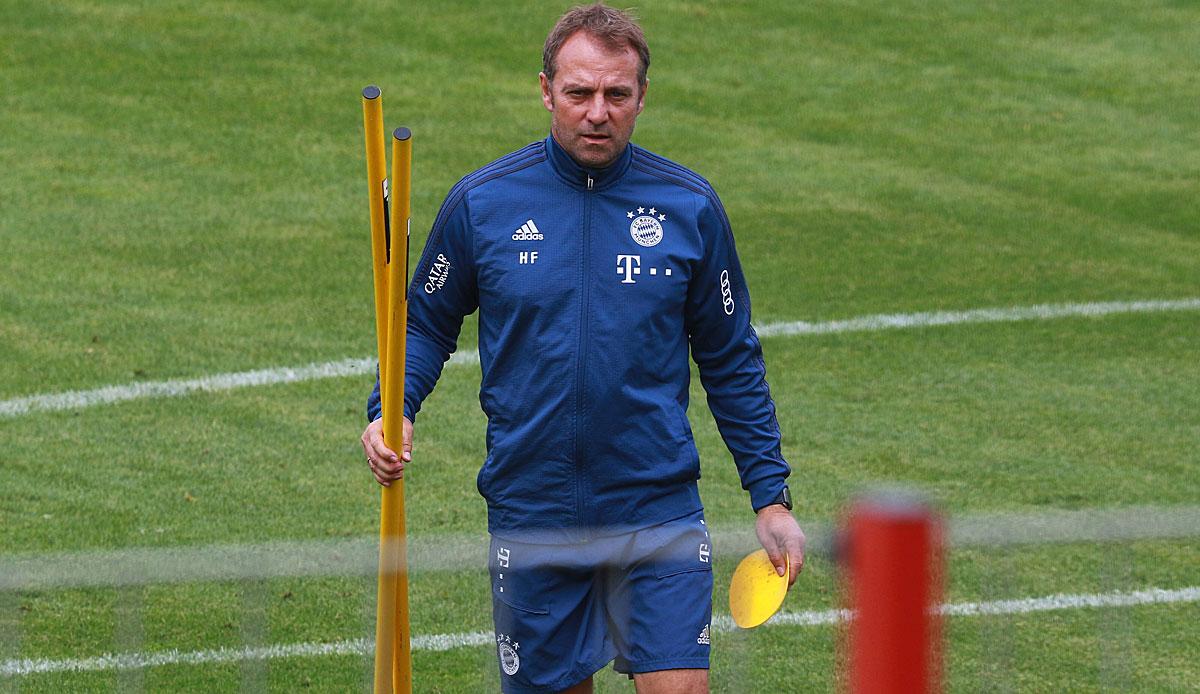 FC Bayern, News und Gerüchte: Hansi Flick soll Training abgebrochen haben