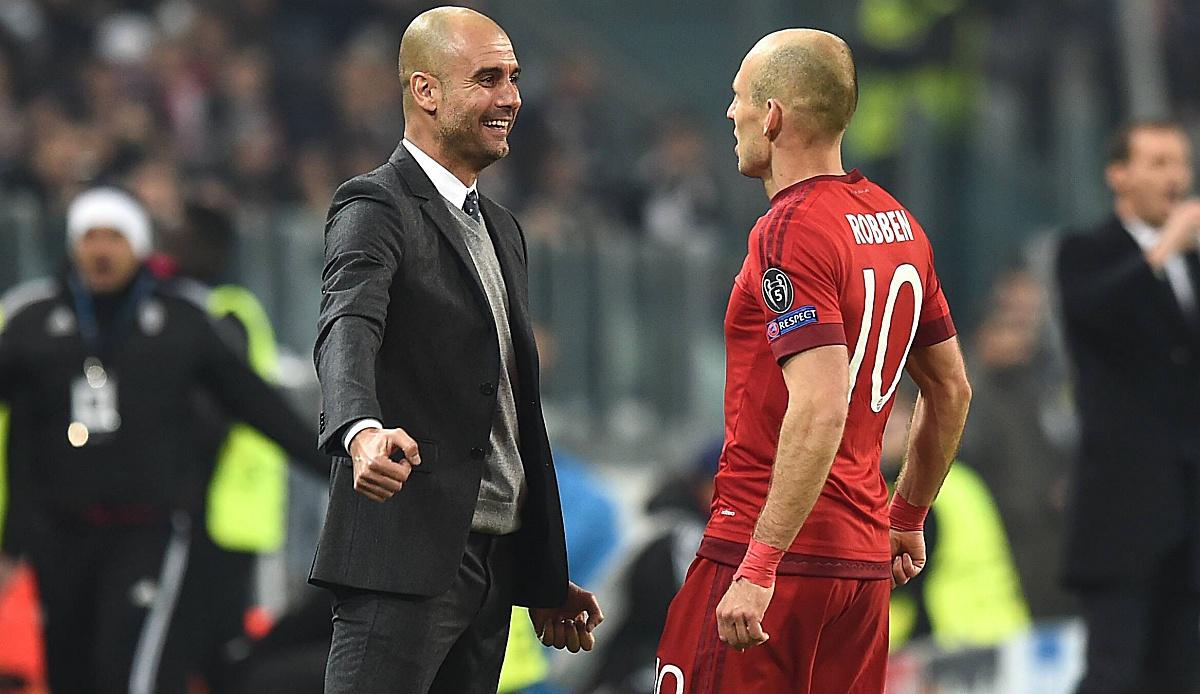 FC Bayern, News und Gerüchte - Arjen Robben adelt Pep Guardiola: Ist der Beste