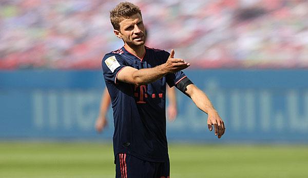 Thomas Müller a vu son cinquième carton jaune contre Leverkusen.