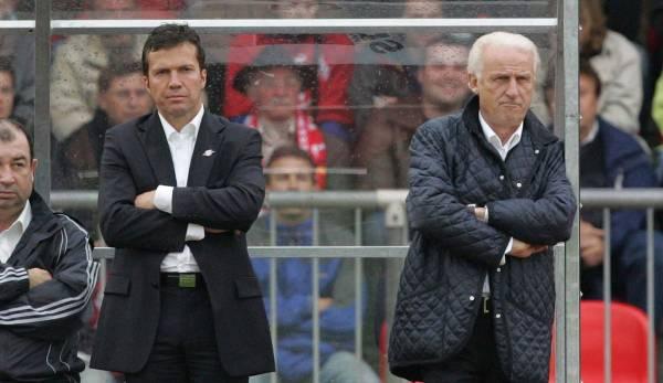 Outre Hansi Flick, Lothar Matthäus (à gauche) a également agi comme entraîneur adjoint de Giovanni Trapattoni au RB Salzburg