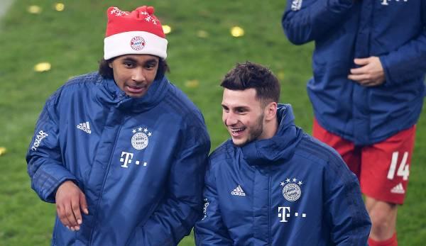 Joshua Zirkzee et Leon Dajaku après leurs premières apparitions pour les professionnels au FC Bayern Munich juste avant Noël 2019.