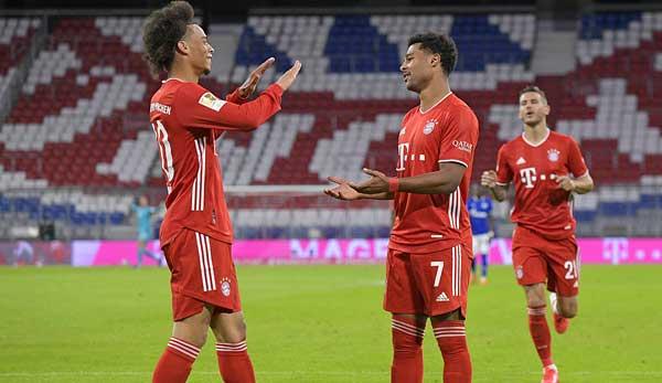 Tout était encore bon: Leroy Sane et Serge Gnabry ont impressionné dans leur travail d'équipe lors de l'ouverture de la saison du Bayern contre Schalke 04.