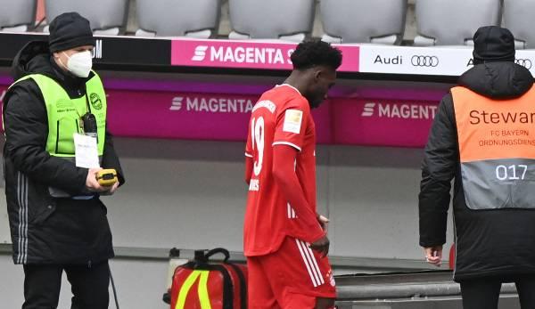 Alphonso Davies wurde gegen Stuttgart schon in der Anfangsphase des Feldes verwiesen.