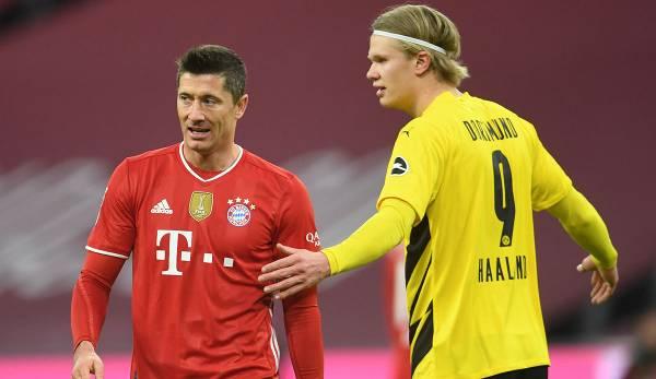Robert Lewandowski und Erling Haaland gehören derzeit zu den besten Stürmern der Bundesliga.