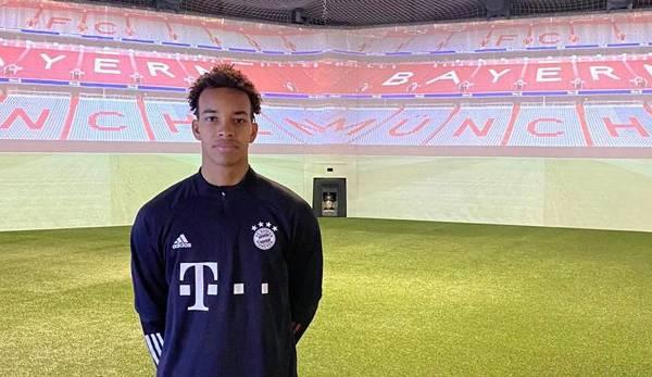 Emilian Metu bei seinem Probetraining beim FC Bayern München im Januar.