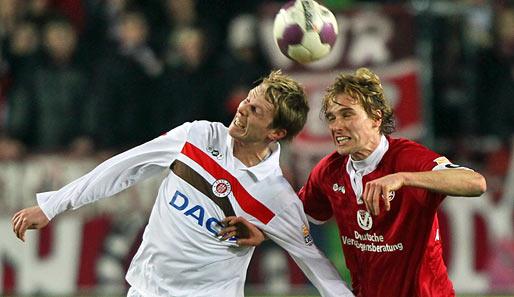 Der FC St. Pauli und der 1. FC Kaiserslautern stiegen 2010 gemeinsam aus der 2. Liga auf