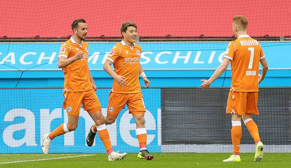 Doan brachte die Arminia beim Sieg in Leverkusen in Führung.