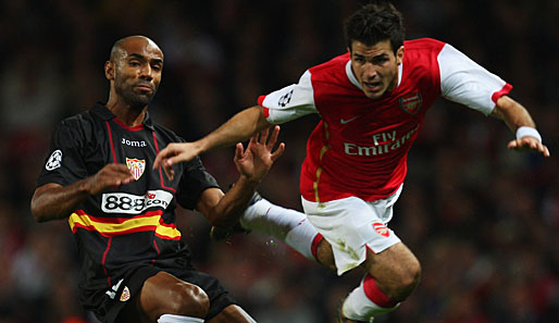 Cesc, Fabregas, Kanoute, Sevilla, Arsenal, London