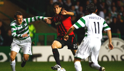 Kaka, Hartley, Celtic Glasgow, AC Mailand