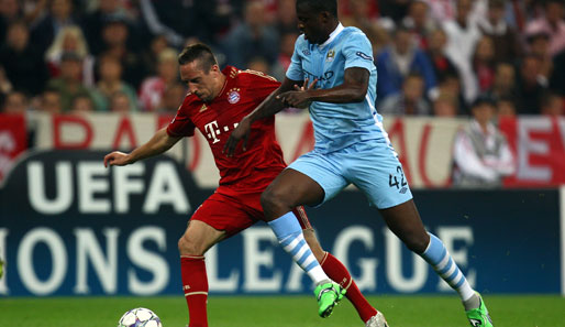 Bayerns Franck Ribery ist bis dato auch in der Champions League in Topform