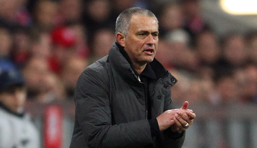 Händeringend am Spielfeldrand in der Allianz Arena: Real-Trainer Jose Mourinho
