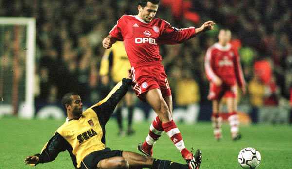 5. Dezember 2000 in Highbury: Hasan Salihamidzic im Duell mit Ashley Cole
