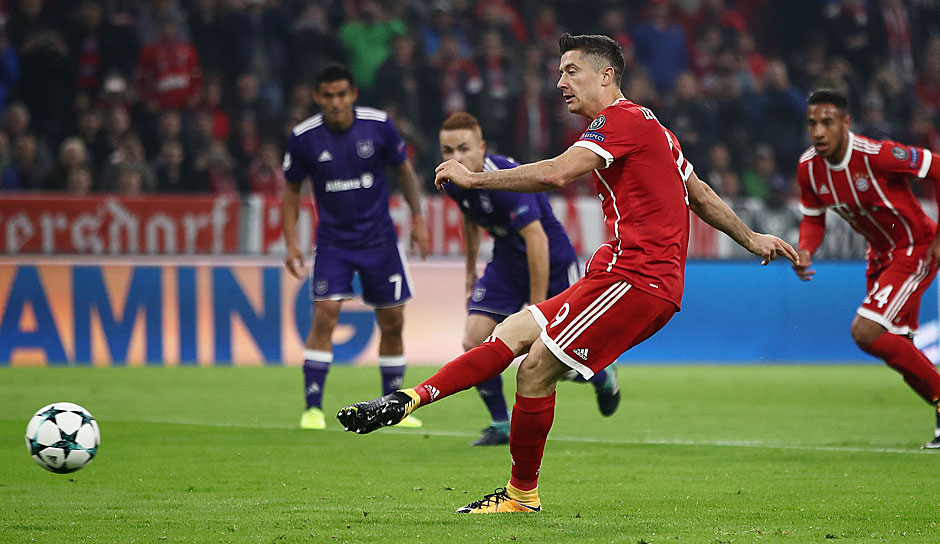 Platz 1: Robert Lewandowski - 24 Tore in 34 Spielen