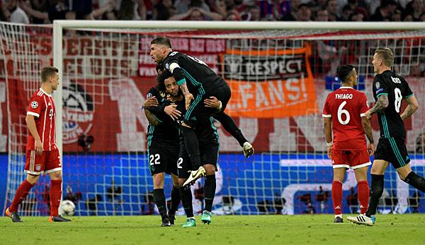 Real Madrid bejubelt einen 2:1-Auswärtssieg beim FC Bayern München.