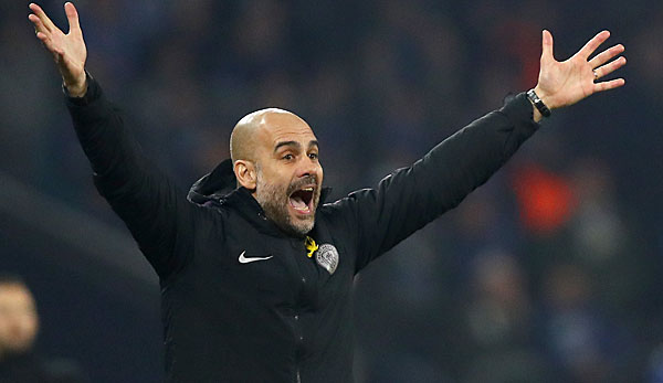 Pep Guardiola ist Trainer bei Manchester City.