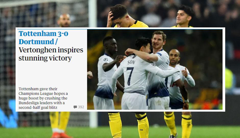 Pressestimmen Tottenham Dortmund