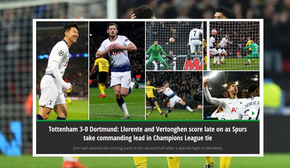 Dortmund Tottenham Pressestimmen