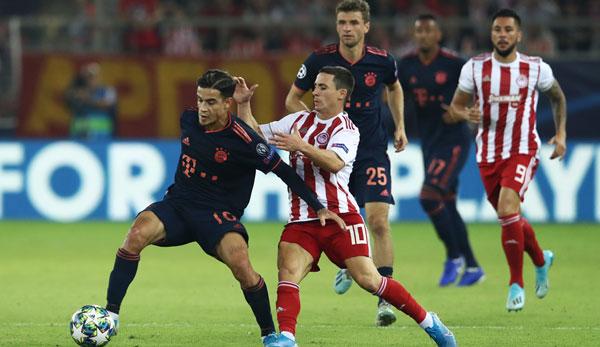 Champions League Fc Bayern Gegen Olympiakos Piraus Zum
