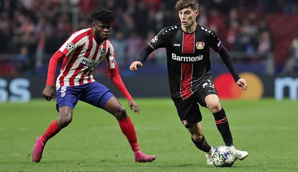 Champions League Bayer Leverkusen Gegen Atletico Madrid Im