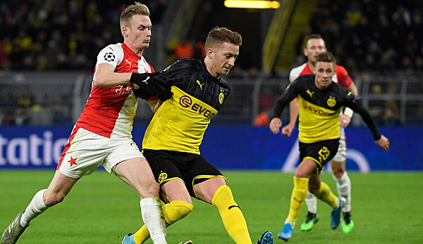 In the last match of the Champions League group game, BVB beat Slavia Prague.