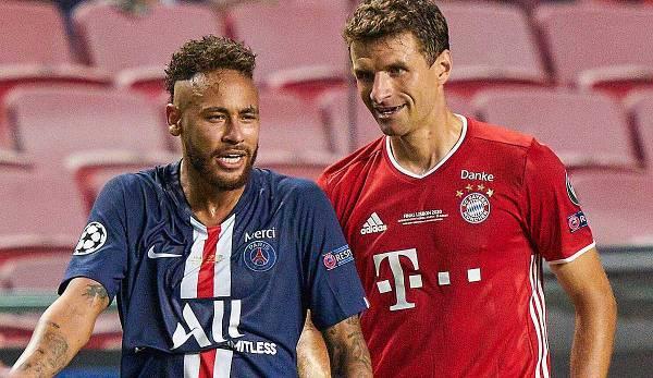 C'est un plaisir de se retrouver: Thomas Müller du FC Bayern et Neymar du PSG se retrouveront à nouveau en Ligue des champions après la finale 2020.
