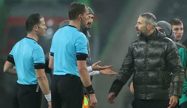 Marco Rose s'est disputé avec l'arbitre après le match.