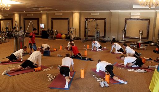 Treinamento da Alemanha inclui Yoga